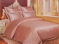 Комплект постельного белья жаккард с кружевной каймой,TF B 0014 евро- 4 наволочки