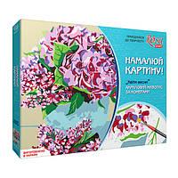 Набор акриловой живопись по номерам, Цветы весны