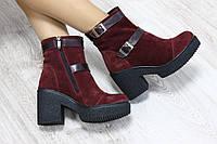 Зимние замшевые ботиночки
