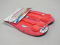 Балетки для дома с зайчиками - Коралловый