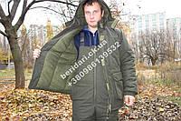 Теплый  Костюм для рыбалки и охоты  темно зеленый   ,непродувемый,непромокаемый(Новинка )