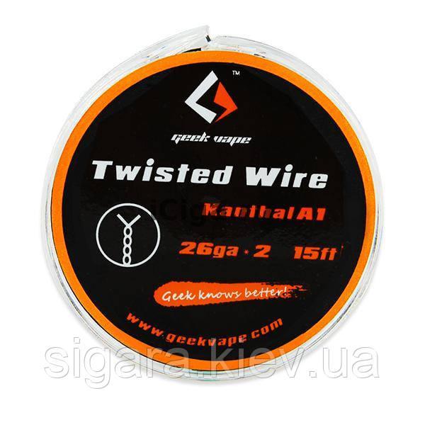 Проволока 5m GeekVape Twisted Atomizer DIY Kanthal KA1 Tape Wire (26GA + Ribbon)
