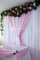 Свадебная флористика, оформление залов цветами и тканями. Аренда декора и текстиля