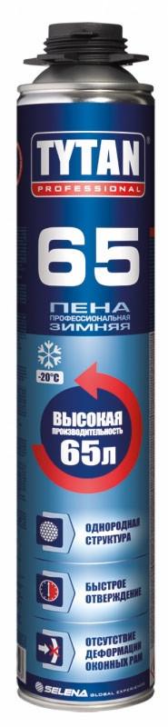 Піна монтажна TYTAN 65 Pro, 750мл/65л ЗИМА проф.