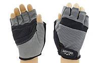 Перчатки для фитнеса ZEL (PVC, PL, р-р S-L, открытые пальцы, синий, красный, серый)