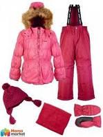 Комплект зимний, куртка и комбинезон с набором аксессуаров Gusti 4625 GWG, цвет розовый