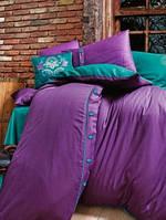 Постельное белье Issimo Home Dawson purple жаккард евро