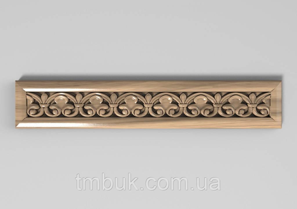 Горизонтальный декор 62 деревянная накладка - 260х100 мм