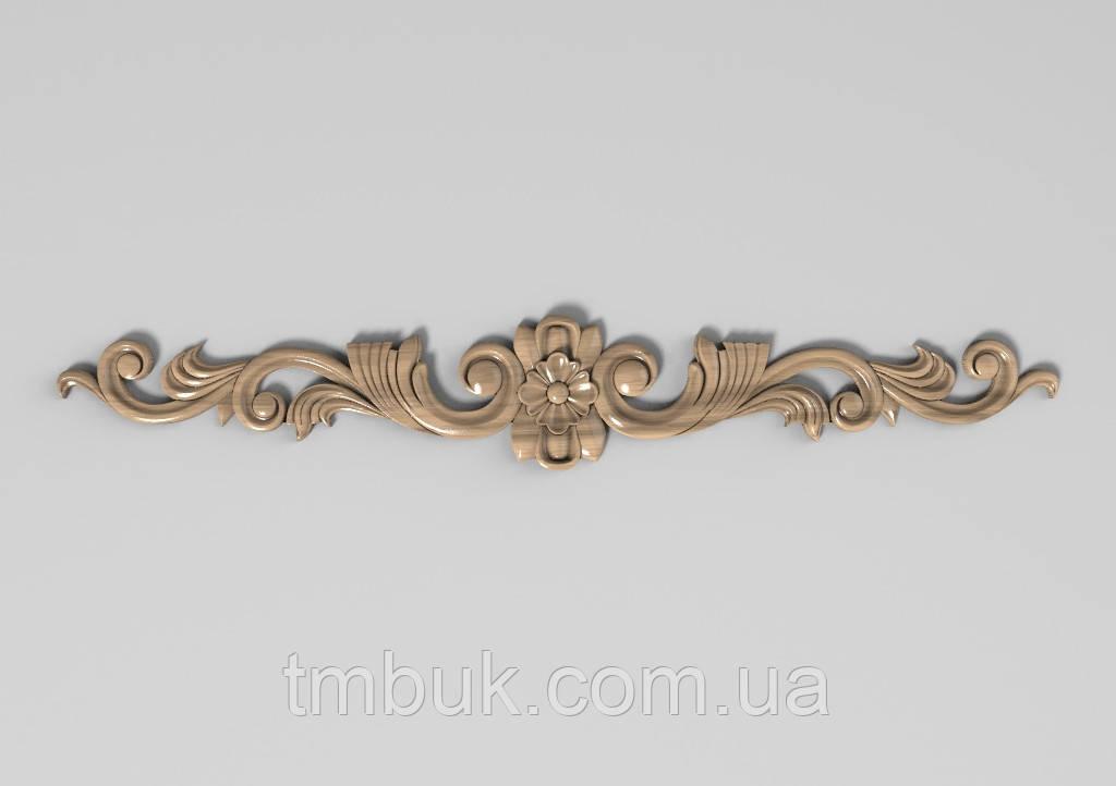 Горизонтальный декор 71 деревянная накладка - 450х70 мм