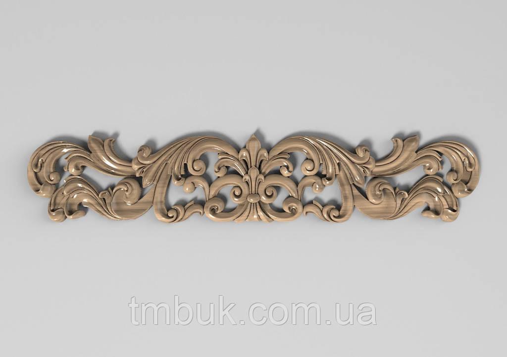 Горизонтальный декор 73 деревянная накладка - 400х80 мм