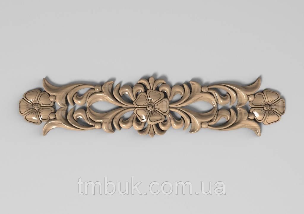 Горизонтальный декор 80 резная накладка - 390х90 мм