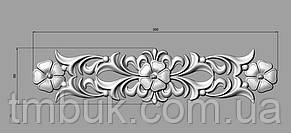 Горизонтальный декор 80 резная накладка - 390х90 мм, фото 2