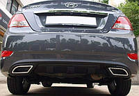 Накладка заднего бампера (диффузор) Hyundai Accent 2011-2015