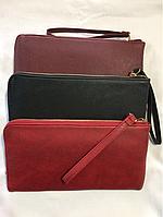 Красный женский кошелёк клатч 24/13 см, фото 1
