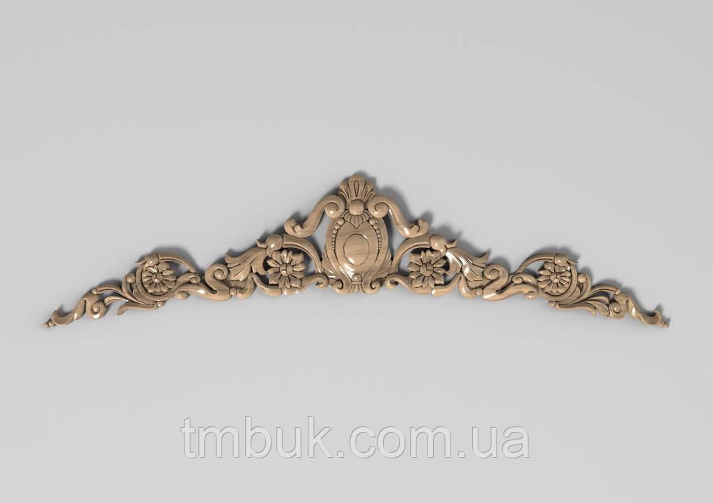 Горизонтальный декор 90 корона - 450х110 мм