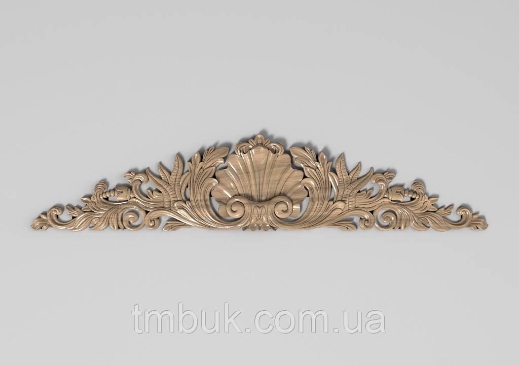 Горизонтальный декор 98 корона на двери - 850х180 мм