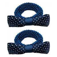 Резинка для волос TITANIA Terry Синий бант, 2 шт  7904GIRLB ТМ: TITANIA