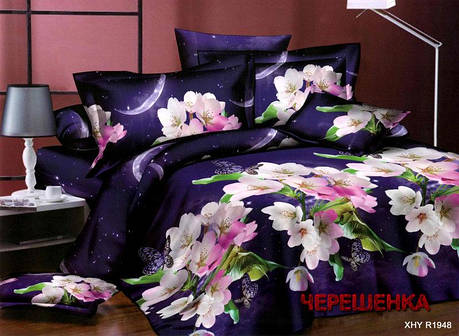 Евро набор постельного белья 200*220 из Ранфорса №086 Черешенка™, фото 2