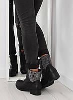 11-06 Черные женские полусапоги S133 40