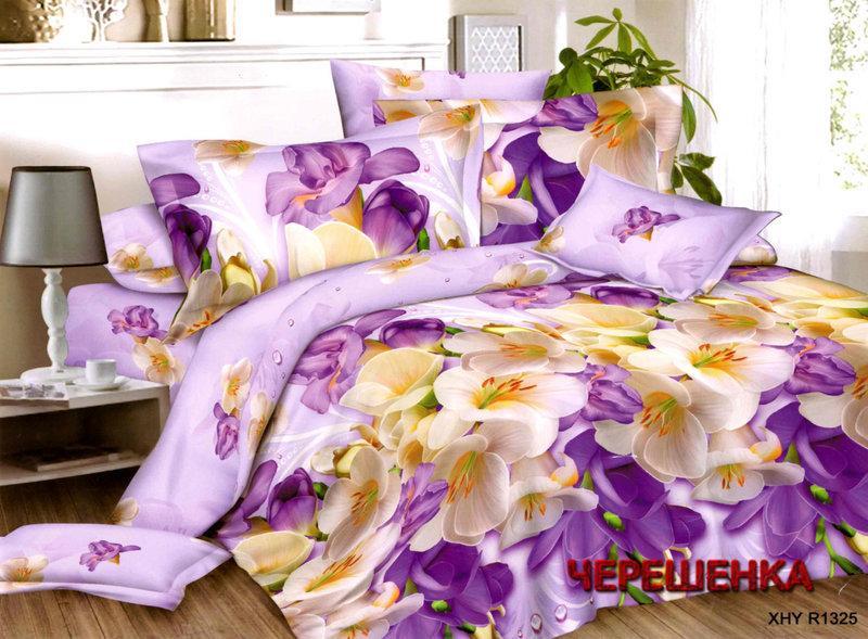 Полуторный набор постельного белья из Ранфорса №327 Черешенка™
