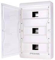 Корпус пластиковый навесной (NT) 37-модульный, трехрядный, IP 55 c непрозрачной дверкой