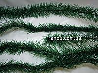 Отрезная ветка ели(темно зеленая), искусственная-мягкий пластик( длина 3метра)