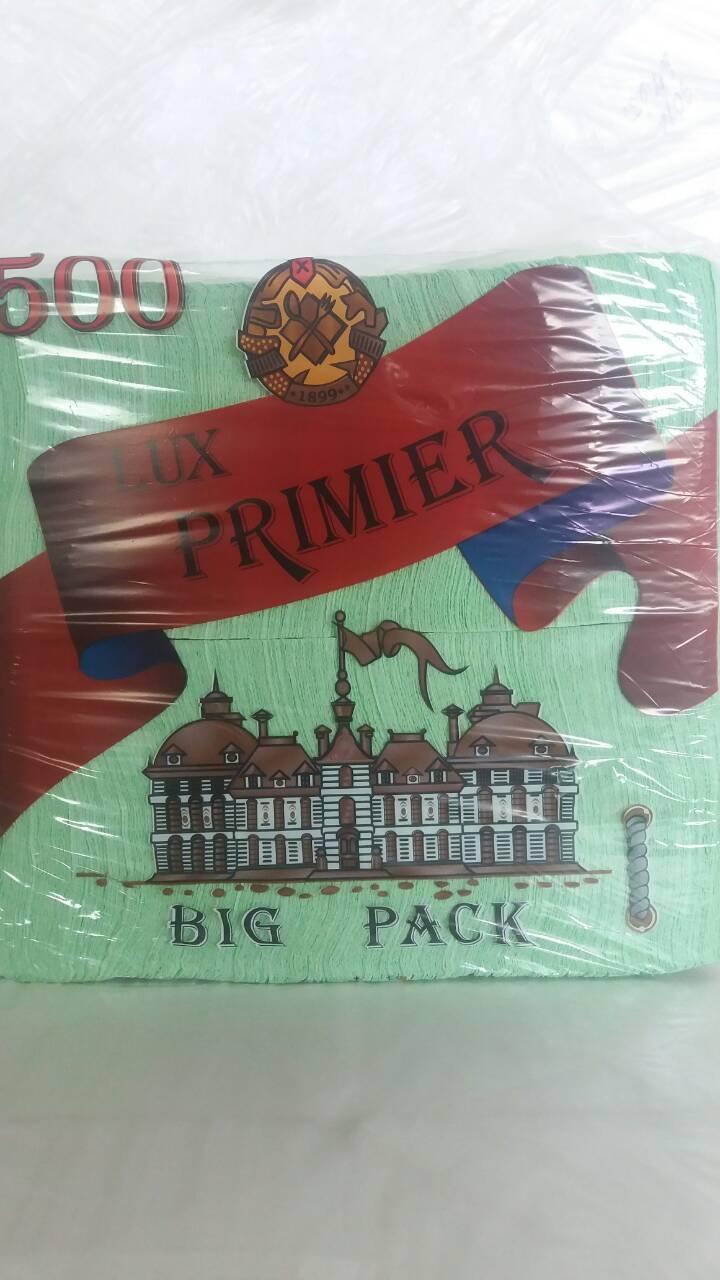 Салфетка бумажная барная (столовая) 500лист Премьер Зеленый (1 пач)