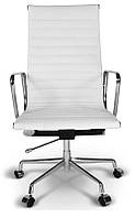 Офисное кресло Алабама Н белое, реплика на кресло Chaise Eames Alu EA119 - Blanc, Доставка бесплатная Деливери