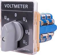Переключатель вольтметра щитовой e.switch.v на 7 положений