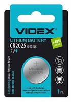 Батарейка литиевая CR2025 Videx BLISTER CARD