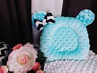 Ортопедическая подушка для новорожденных двусторонняя