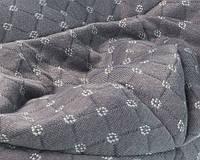 Трикотаж капитоне, стеганный, zara, серый
