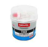 Шпатлівка Novol Fiber скловолокно 0,6 кг синя