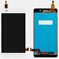 Дисплей (экран) для Huawei Honor 4C (CHM-U01) + с сенсором (тачскрином) белый Оригинал