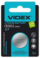 Батарейка литиевая CR2032 Videx BLISTER CARD