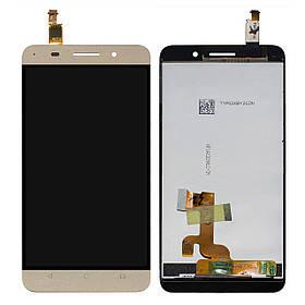 Дисплей (экран) для Huawei Glory Play 4X з сенсором (тачскріном) золотистый Оригинал