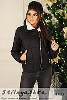 Демисезонная короткая черная куртка, фото 1