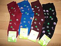 """Зимние женские махровые носки, """" Новогодний подарок """""""