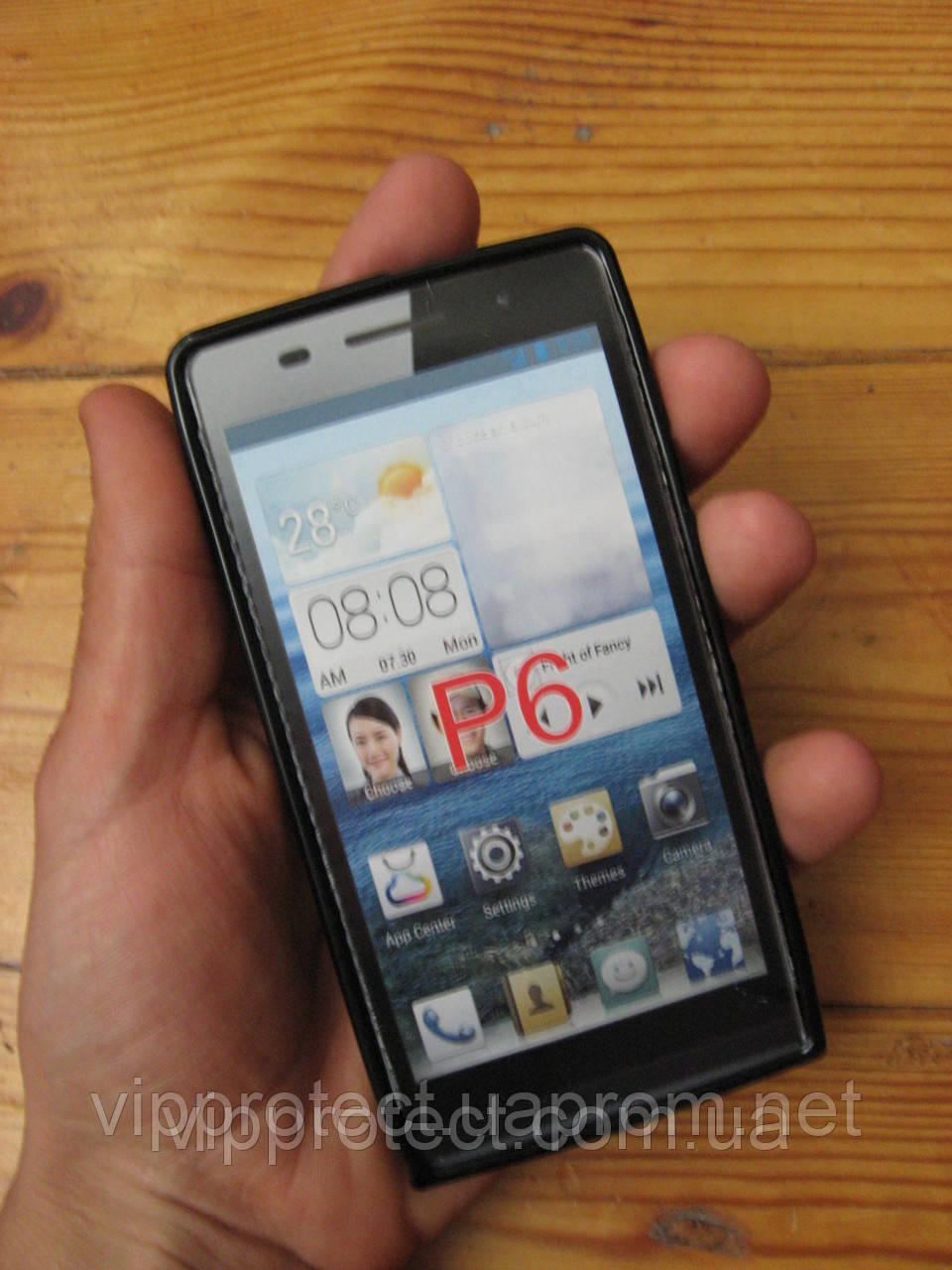 Huawei G610, белый_силиконовый чехол