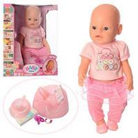 Пупс Baby Born BB 8006-457 (9 функций, магнит соска, горшок, каша, подгузник, тарелочка)