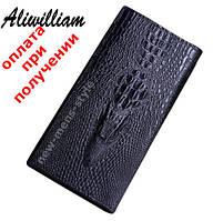Стильний чоловічий шкіряний гаманець клатч портмоне Alligator Lacoste, фото 1