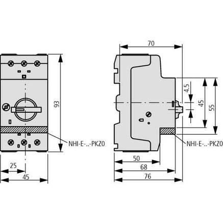 Автомат защиты двигателя PKZM0-1 1,0А Eaton (72734), фото 2