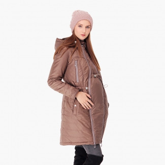 Зимняя слингокуртка 3 в 1 — Капучино - HAPPY MAMA - одежда для беременных и  кормящих fc1e8d47373