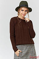Вязаный зимний женский свитер, джемпер