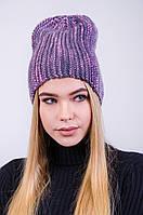 Красивая меланжевая шапка