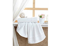 Белое махровое полотенце 50х90 Tohum