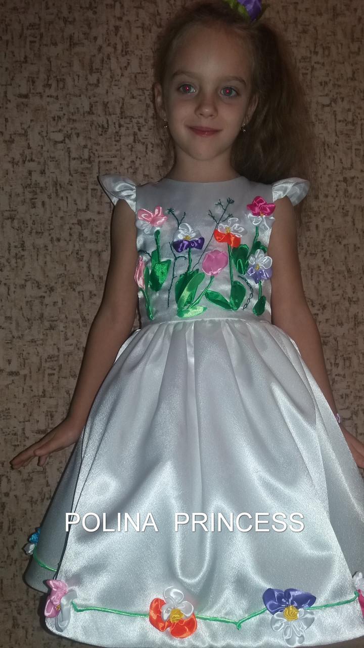 Детское белое платье  46fb255ae3a2e