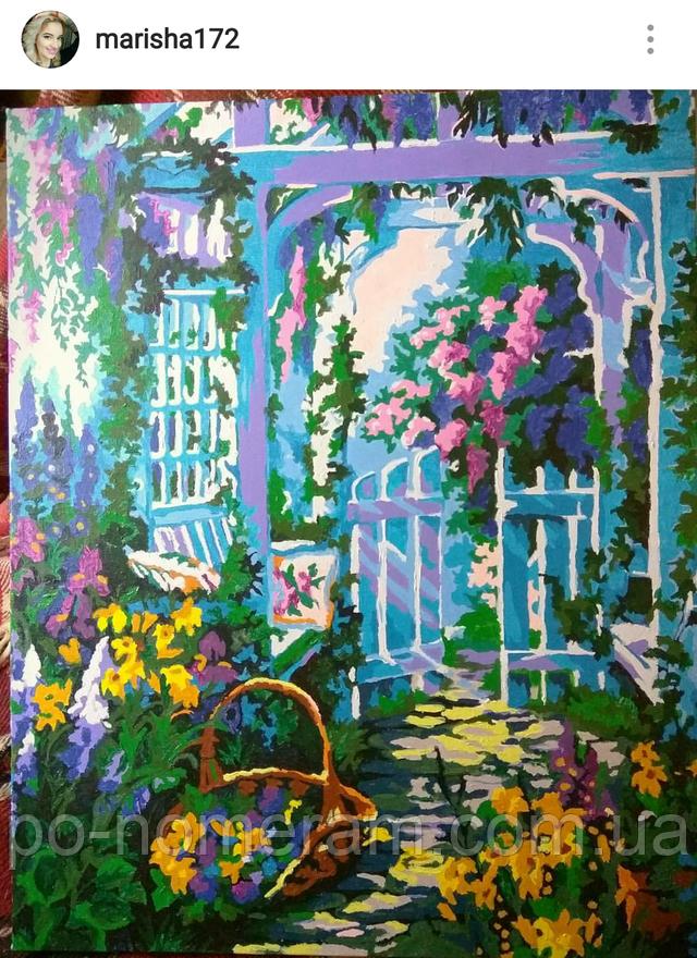 Нарисованная картина Babylon Сиреневый сад