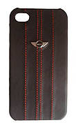 Чехол для iPhone 4/4S - MINI Cooper Red Stripes leather back cover