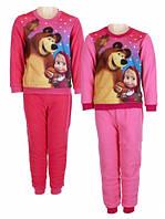 Пижама утепленная для девочек оптом MASHA 92-116 см.№832-107